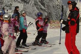 Skikurs an der Seilbahn Ochsenkopf