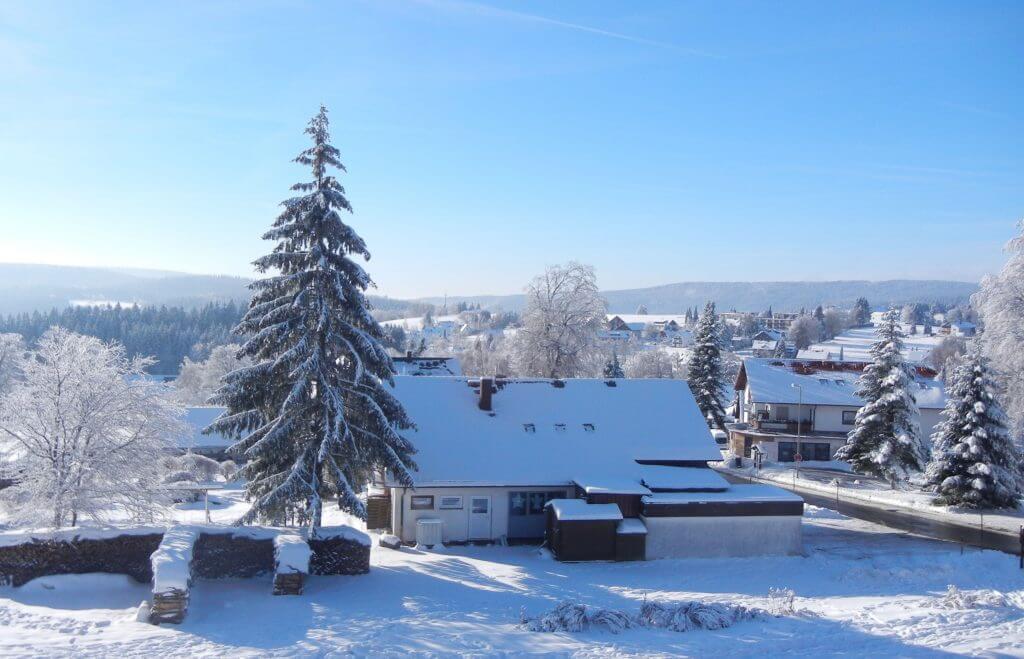 Vom Ferienhaus aus Blick über Fleckl